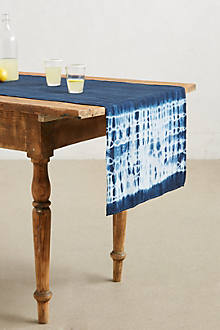 shibori table runner from anthropologie